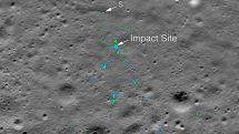 NASA 的照片中發現印度 Vikram 月球著陸器的殘骸