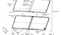 微軟申請得一個使用液壓式鉸鏈的折疊螢幕手機設計