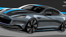 Aston Martin's first electric sedan quietly rolls into view