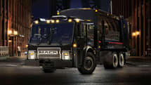 Mack's new electric truck  hauls trash