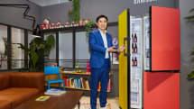 Samsung 帶來可選九種顏色和八種尺寸的客製化冰箱