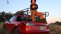 テスラModel 3をピックアップトラックに魔改造。「どこに行っても買えない」と自慢