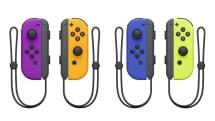 ニンテンドースイッチのJoy-Conに新色ネオンパープル / ネオンオレンジ / ブルー。スプラトゥーンのガール・ボーイ色