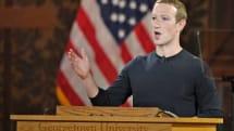 Mark Zuckerberg defends free speech on Facebook