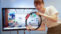 Nintendo Switchの「リングフィット アドベンチャー」で筋トレ、超ハードなモグラ叩きで腕がパンパン(小彩 楓)