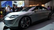 「Vision-S」は、ソニーが供給できるセンサー群やインフォテインメント技術を示すコンセプトカー