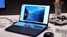 あの「キーボード奥にも画面」なノートがモバイルに。ASUSがZenBook DuoをCESで出展