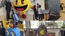 キプリングがパックマンコラボ製品を発売、世界最大のパックマン筐体も登場