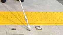「RFIDタグ x 杖」で視覚障害者を誘導、点字ブロックを補完 京セラが開発