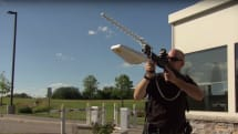 Anti-drone rifle shoots down UAVs with radio waves