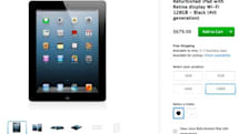 Apple's online store begins selling refurbished 128 GB iPads for the first time