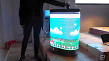 Smart garbage can turns trash into a game