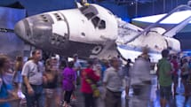Someone stole a tile from the Space Shuttle's thermal shield