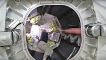 Astronauts climb into BEAM for the first time