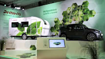 Dethleffs' camping trailer uses EV tech to reduce towing strain
