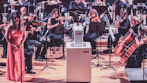 A robot conductor led a live orchestra performance