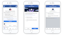 Facebook requires Page managers to complete authorization process