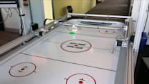Microsoft built a robotic air hockey table to show off Windows 10