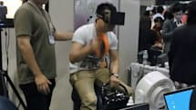 The horse riding simulator that pairs an Oculus Rift with an exercise machine