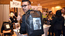 This e-paper backpack is the kind of crazy we deserve