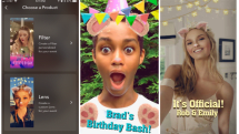 Snapchat lets you create personalized Lenses for parties