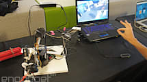 Disarm a bomb with your hand, a robot arm and Leap-motion controller