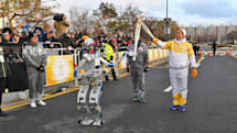 A humanoid robot carried the Olympic torch in South Korea
