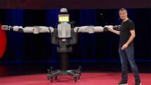 Carefully choreographed robot pretends to do magic, recites Asimov