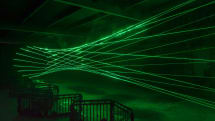 Laser wormhole art is as dazzling as it is dangerous
