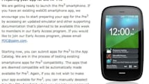 HP tells developers to start submitting apps for Pre 3, still on track for summer launch?