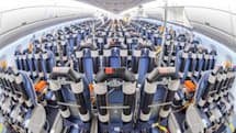 These plastic pipes filled with warm water help Airbus test passenger comfort on the A350