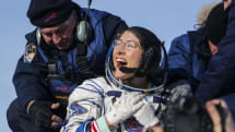 Christina Koch returns to Earth after a record 328 days in space