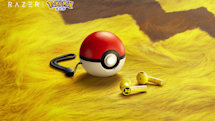 Razer's Pikachu wireless earbuds are stored in a Poké Ball