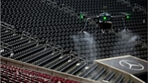 NFL teams are using drones and robots to limit virus spread