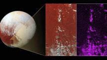 New Horizons spots snowcapped peaks on Pluto