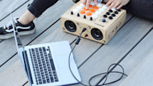 Build your own cheap drum machine from cardboard and arcade buttons