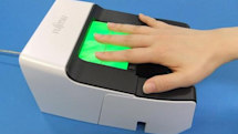 Fujitsu fingerprint / palm reader does large-scale biometric identification, won't tell fortunes