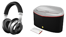 Logic3's Ferrari-branded headphones and speakers make their stateside debut, no license required to rock
