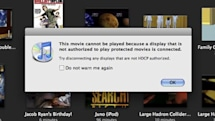Apple iTunes content throwing HDCP flags on new MacBook / MacBook Pro