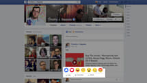 Facebook tests 'Reactions,' a Like button with more emotions