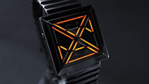 Tokyoflash's cryptography-inspired Kisai X watch tells time via pyramid lens, LED lights