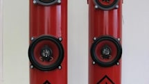 Russian fire extinguishers converted into speakers