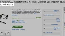 Dell fesses to Studio 1535 laptop with adapter listing
