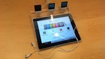 Apple Store celebrates 10th anniversary with 2.0 experience, iPads locked in Lucite (video)