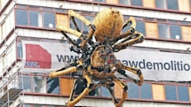 Ginormous robot spider invades Liverpool, England