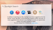 OS X Spotlight Search glitch can expose your IP address and other details to spammers