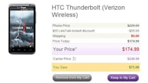 HTC Thunderbolt hits $175 price point with LetsTalk -- but only for this weekend