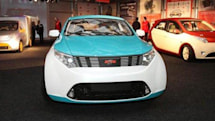 Yo-mobile hybrid cars on display in Russia, run on gas, natural gas, and GLONASS