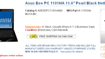 ASUS' 11.6-inch 1101HA netbook finally on sale in America