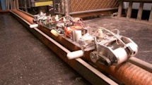 Robotic Cable Inspection System checks for damage on electrical conduits